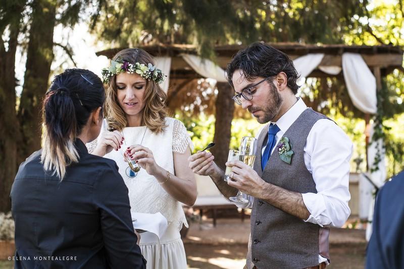 Laurence y Julio eligen una boda sostenible
